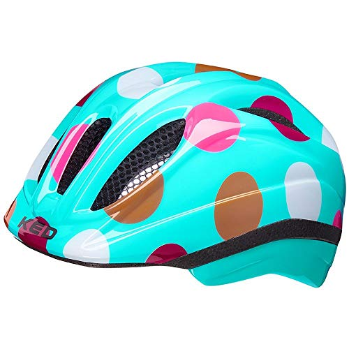 KED Meggy II Trend M dots Retro - 52-58 cm - inkl. RennMaxe Sicherheitsband - Fahrradhelm Skaterhelm MTB BMX Kinder Jugendliche
