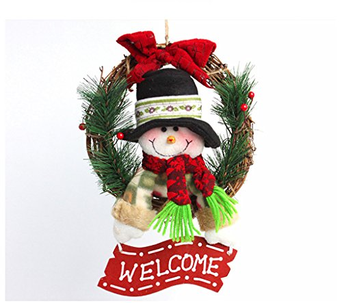 Sale!! LAOHAO Christmas Wreath Christmas Decoration Santa Cane Wreath Christmas Wall Ornament one-ti...