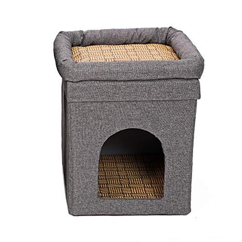 Miyabitors Pequeña Cama del Gato, Gato del Cubo, Casa del Gato/Gato Condo, Pop Up Cama, Diseño De Doble Capa