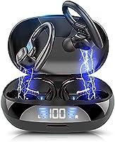 【2021革新版 Bluetooth5.0】 ワイヤレスイヤホン 耳掛け式 Bluetoothイヤホンスポーツ仕様Hi-Fi 低遅延 LED残量表示 CVC8.0ノイズキャンセリングAAC対応自動ペアリング 瞬間接続...