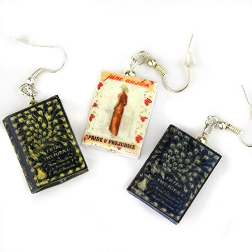 Ashmole 782 Discovery of Witches Clay Mini Book Hypoallergenic Stainless Steel Dangle Hook Earrings