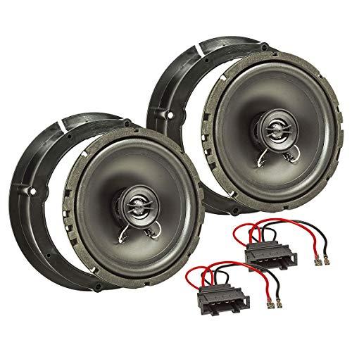 tomzz Audio 4057-001 Lautsprecher Einbau-Set passend für VW Golf 4 IV Passat 3BG Polo 9N New Beetle 165mm Koaxial System TA16.5-Pro