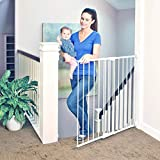 Toddleroo by North States 47.85' wide Tall Easy Swing & Lock Gate: Ideal for standard stairways. Hardware Mount. Fits openings 28.68' - 47.85' Wide (36' Tall, Soft White)