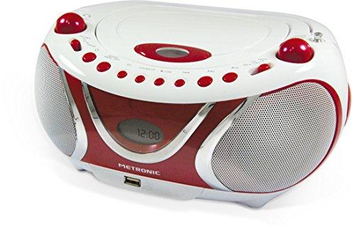 Metronic 477117 CD-MP3-Radio Weiß/Rot