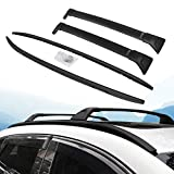 HEKA 4 PC All Black Roof Rail Rack + Cross Bar for Mazda CX-5 2017 2018 2019 2020 Luggage Baggage