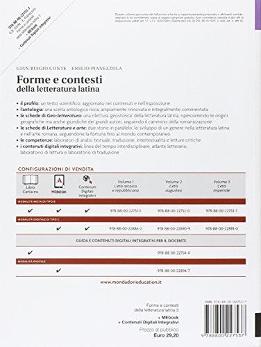 Forme e contesti della letteratura latina. Per i Licei e gli Ist. magistrali. Con e-book. Con espansione online (Vol. 3)