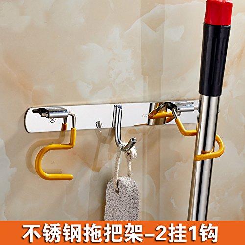 Serpillère Balai Cintre en acier inoxydable 304 étagère de salle de bain balcon de stockage Crochet mural multi-usage Balai à franges