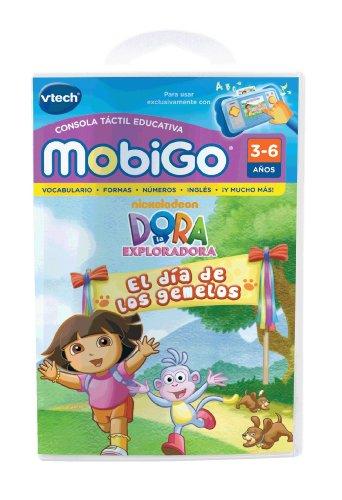 VTech - Dora la Exploradora, El día de los Gemelos, Juego Educativo en Soporte físico para MobiGo (80-250822)