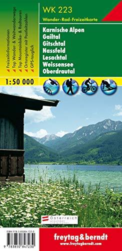 Freytag Berndt Wanderkarten, WK 223, Naturarena Kärnten - Gailtal - Gitschtal  -Lesachtal - Weissensee - Oberes Drautal - Maßstab 1:50.000