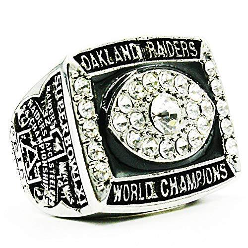 TWCUY 1976 Oakland Raiders Football Championship Ring Super Bowl XI Replica Championship Rings for Men Fans Gift (Without Box,11)