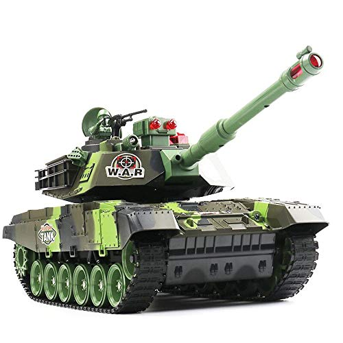 BSQS1 2.4G RC Tank Big Size Remote Control Tank Can Launch Battle Rotating Turret Charging Children