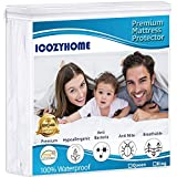 Queen Mattress Protector Waterproof Hypoallergenic Fitted Mattress Pad Cover, Ultra Thin & Breathable Mattress Protector, Dust Mites, Cotton Terry Surface Vinyl Free, Fitted 8' - 18' Deep Pocket
