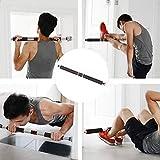 懸垂バー プルアップバー 耐荷重100kg 自宅 廊下/ドアに設置 腹筋 広背筋 背中 トレーニング 62-100cm 滑り止め 運動用