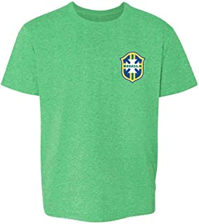 Brazil Futbol Soccer Retro National Team Football Youth Kids Girl Boy T-Shirt
