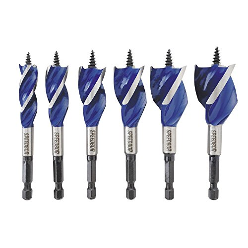 IRWIN SPEEDBOR Drill Bit Set for Wood, 4-Inch, 6-Piece (1877239)