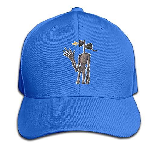 Siren Head Horror Pure Color Peaked Cap Premium Sandwich Hat Ajustable Deportes Negro