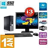 Dell Mini PC 790Ultra USFF Pantalla 27' Core i3–210016GB 240go SSD WiFi W7