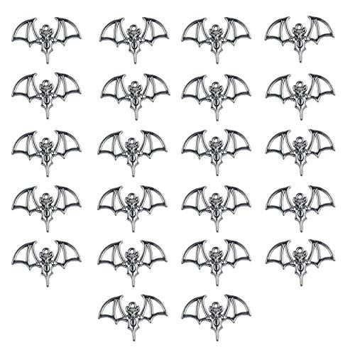 Aokbean 22pcs Argento Tibetano Animali Ciondoli A Forma di Pipistrello A Forma di Pipistrello per Creazione di Gioielli Accessori per Bracciale Collana Fai da Te Orecchini