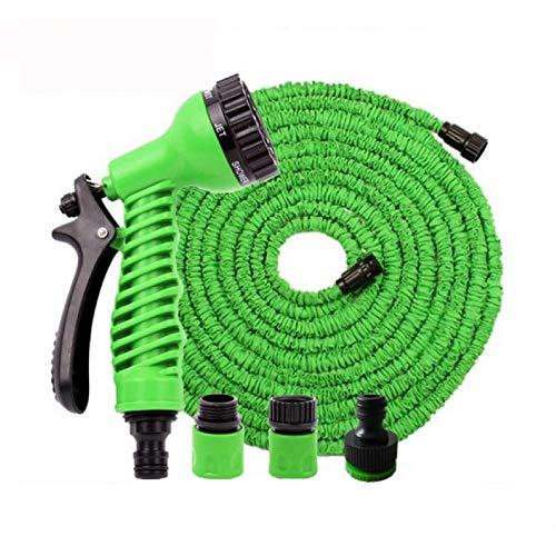 HED 30m Flexibler Gartenschlauch mit Sprühpistole | Flexischlauch mit Gartenbrause | Wasserschlauch für Bewässerung und Autowäsche