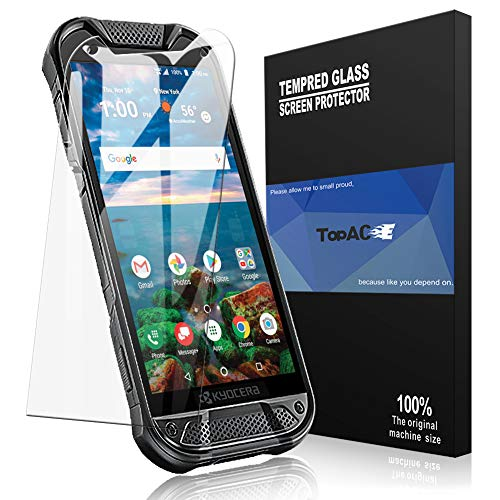 [2 Pack] TopACE for Kyocera DuraForce PRO 2 Screen Protector, Kyocera DuraForce PRO 2 Tempered Glass 9H Hardness [Case Friendly][Anti-Scratch][Bubble Free] with Lifetime Replacement Warranty