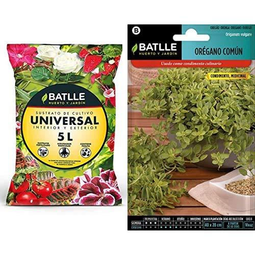 Semillas BatlleSustratos - Sustrato Universal 5L. - Batlle + Aromáticas - Orégano Común