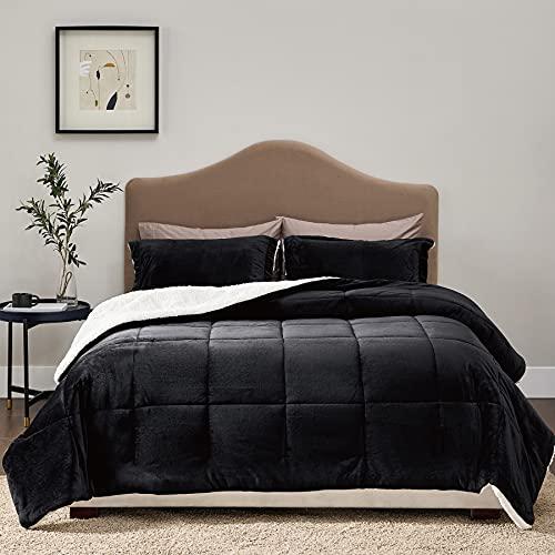 Bedsure Flannel Fleece Sherpa Full/Queen Velvet Comforter...