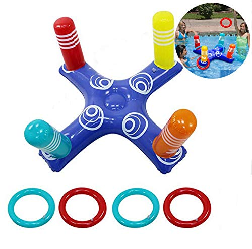 YAAVAAW Inflatable Pool Ring Toss Pool Game Toys Floating Swimming Pool...