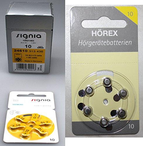 bon comparatif Set Signia, 10 piles pour aides auditives + 12 piles de test Hörex Basic un avis de 2021