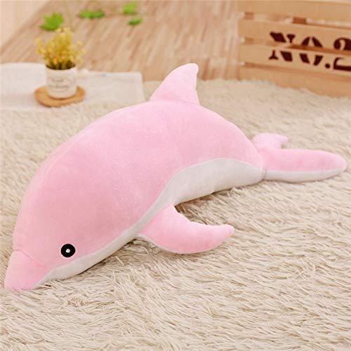 RJGLKS 30-120 cm Kawaii Dolphin Plush Dolls Relleno de algodón Animal Siesta Almohada Creativo niños Juguete niñas 100cm Rosa