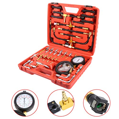 Best Buy! Fuel Injection Gauge Pressure Tester Test Car System Pump Tool Kit