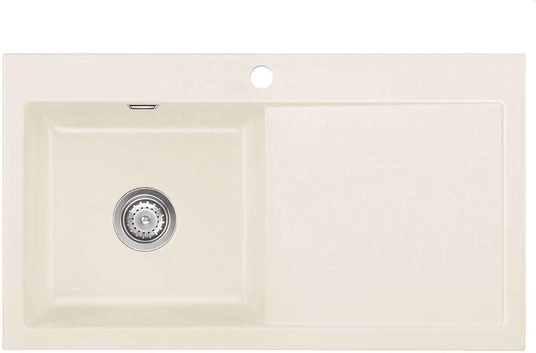 Systemceram Mera 90 Jasmin Keramik-Spüle Keramikspüle Beige Küchenspüle Auflage