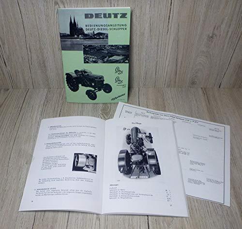 DEUTZ Betriebsanleitung Bedienungsanleitung Traktor D25 D25S H1155 3-3