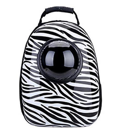 Space capsule pet extended pet rugzak kat en hond tas draagbare rugzak PVC waterdichte rugzak-Zebra patroon met gaten