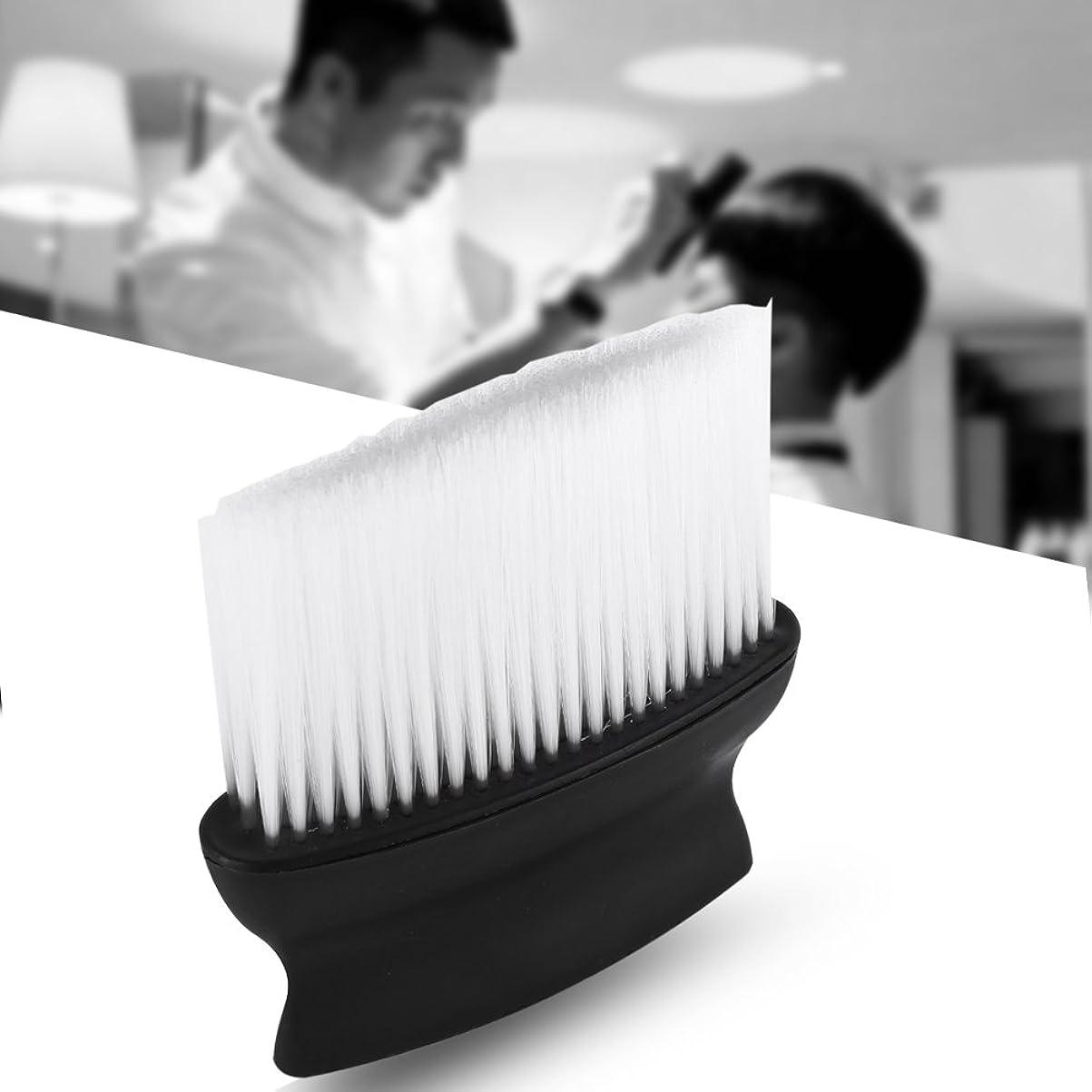 ますます繊維フルートヘアブラシ 毛払いブラシ 散髪 髪切り 散髪用ツール 床屋 理髪店 美容院 ソフトブラシ ナイロン