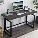 "OIAHOMY Home Office Desk,Industrial Computer Desk 55"" Large Rustic Office Desk Workstation Study Writing Desk Vintage Laptop Table for Home & Office-Ash Grey"