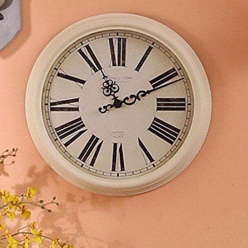Wanduhr Französische Rom Digitaluhr Inneneinrichtungsgegenstände Locca Retro - Modell Raum Schlafzimmer Dekorative Uhren,A