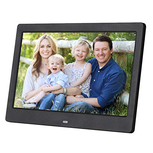 Digitaler Bilderrahmen 10,1 Zoll, 1024 x 600 cm, IPS-Display, unterstützt SD/USB, Multimode Video / Musik / Bild 720p / 1080p, mit Kalender/Uhr