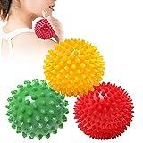 Igelbälle Massageball, 3x Igelball mit Noppen für Rücken, Beine, Füße & Hände Muskelmassage