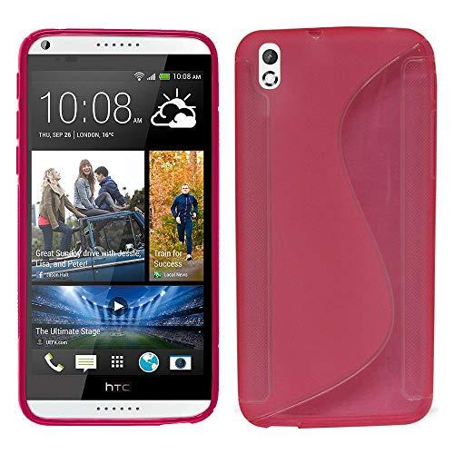 Annart Schutzhülle für HTC Desire 816/816G Dual Sim, S-Line TPU Gel Silikon für HTC Desire 816/816G Dual Sim, Rosa