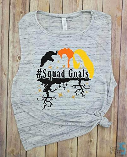 Squad Goals Sanderson Sisters, Colorful, Muscle Tank, It's Hocus Pocus Time, Orange Lettering, It's All Just a Bunch of Hocus Pocus, Halloween Shirt, Fall Shirt