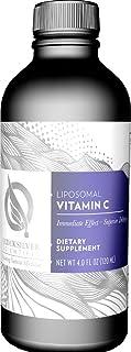 Quicksilver Scientific Liposomal Vitamin C - Potent Antioxidant Formula, 1000mg Buffered Ascorbate Liquid with Phospholipids, Immune System Support (4oz / 120ml)