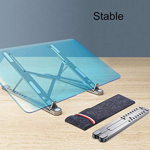 COCOCO Laptopständer Laptop Halter Ständer Tablet Ständer Klappbar Einstellbar Für 11-17.3 MacBook Notebook Aluminiumlegierung Kühlung Universal Rutschfester Ständer-11-17 Zoll Laptops