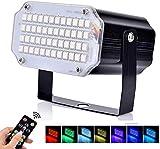 Luces estroboscópicas BASEIN, 48 luces de discoteca LED, luz de fiesta con control remoto, lámpara estroboscópica LED RGB activada por voz para discoteca, bodas, Navidad, Halloween y fiestas