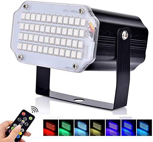 Luces estroboscópicas BASEIN, 48 luces de discoteca LED,