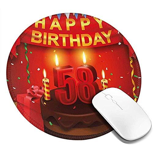 Ronde muismat, feest verrassing chocolade taart leuk met vrienden ontwerp, antislip Gaming Mouse Mat