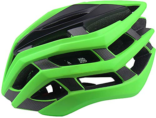 YJIUJIU Casco Bicicleta Adulto Ligero MTB Road Bici Casco De Ciclismo Ajustable Casco Bici para Hombres Mujeres Road Ciclismo De Montaña Bike Helmet 55-57cm/58-61cm,Verde,M