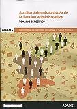 Temario Específico Auxiliar Administrativo-a de la Coselleria de Sanidad Universal y Salud Pública