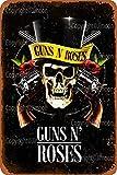 Guns N' Roses Vintage-Blechschild Kunst Eisen Gemälde Rost