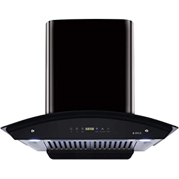 Elica Kitchen Chimney Auto Clean, Touch Control With Baffle Filter 60 Cm, 1200 M3/H (Wd Hac Touch Bf 60, Glossy Black)