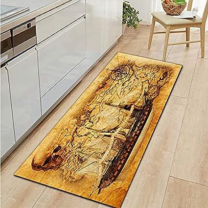 OPLJ Alfombra de Cocina con Figura de faraón Egipcio Antiguo, Alfombrilla de Puerta de Entrada para el hogar, Alfombra Antideslizante Lavable para Sala de Estar, Alfombra A8 50x160cm